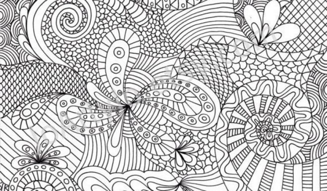 Coloriage et dessins gratuits Tableau Abstrait Anti-Stress à imprimer