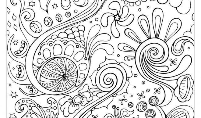 Coloriage et dessins gratuits Tableau Abstrait couleur à imprimer
