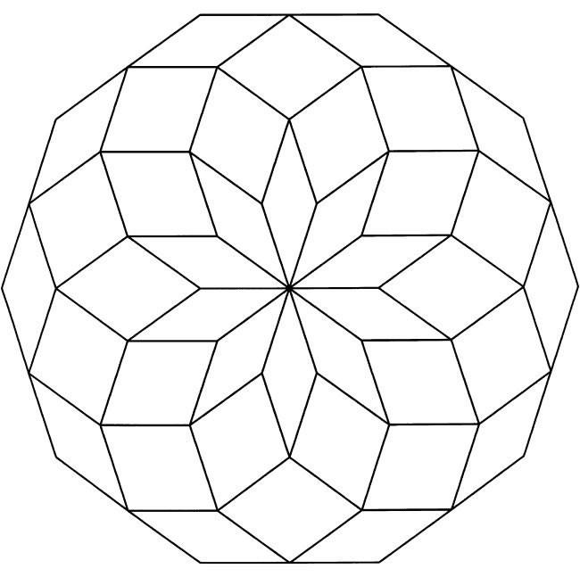 Coloriage et dessins gratuits Tableau Abstrait géométrique à imprimer
