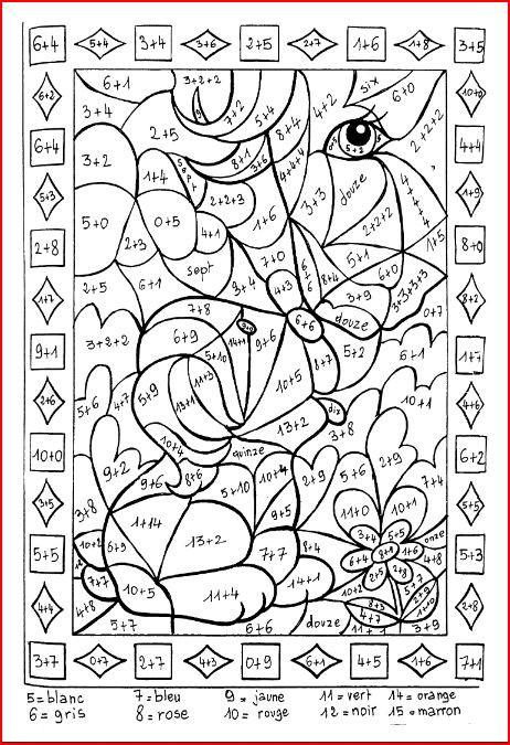 Coloriage et dessins gratuits Addition magique facile à imprimer