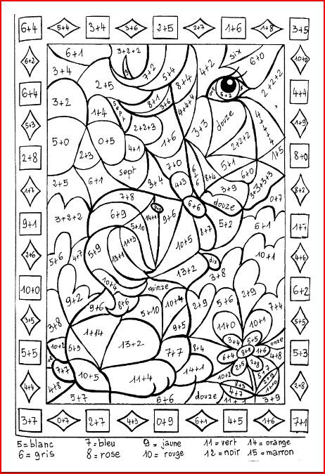 Coloriage et dessins gratuits Addition 35 à imprimer