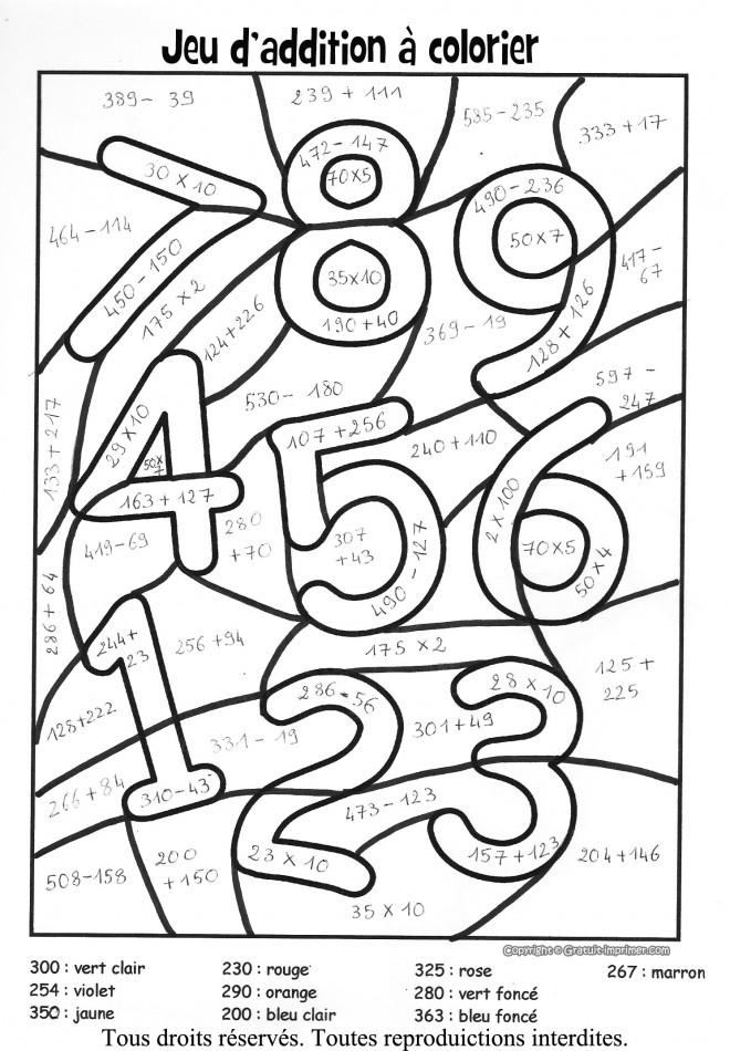 Coloriage et dessins gratuits Addition 40 à imprimer