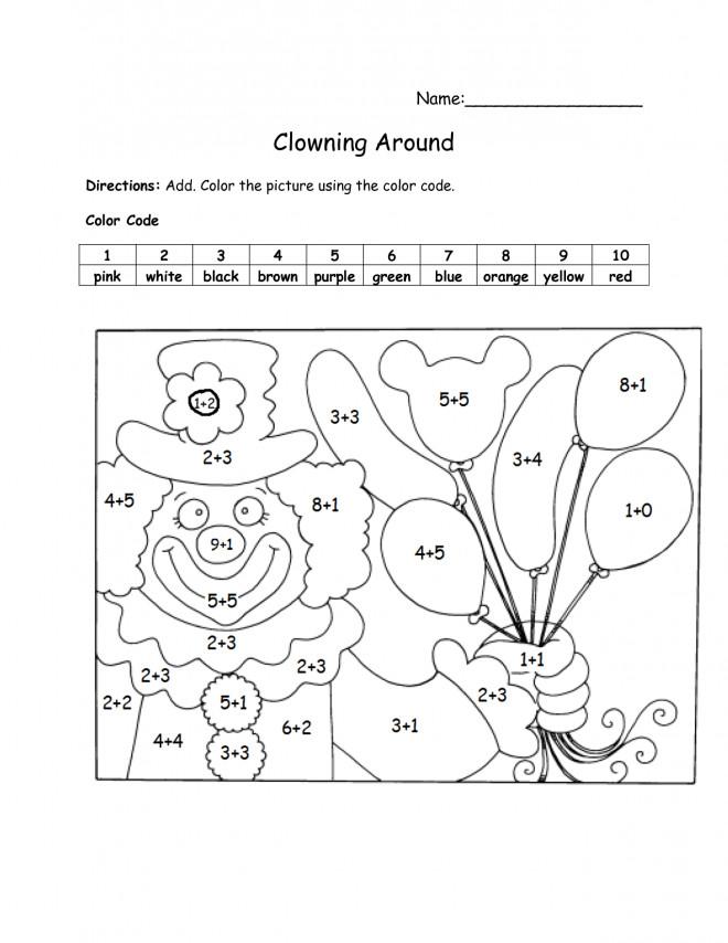 Coloriage et dessins gratuits Addition Clown qui fait rire à imprimer