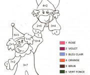 Coloriage et dessins gratuit Addition Clowns de Cirque à imprimer