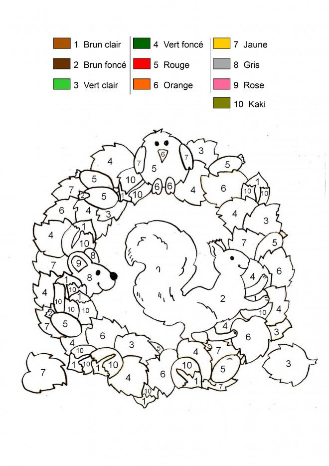 Coloriage et dessins gratuits Addition Les animaux magique à imprimer