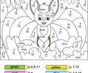 Coloriage et dessins gratuit Addition magique chef souris à imprimer