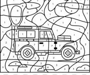 Coloriage et dessins gratuit Addition magique voiture 4X4 en couleur à imprimer