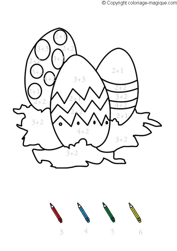 Coloriage et dessins gratuits Addition Oeuf magique à imprimer