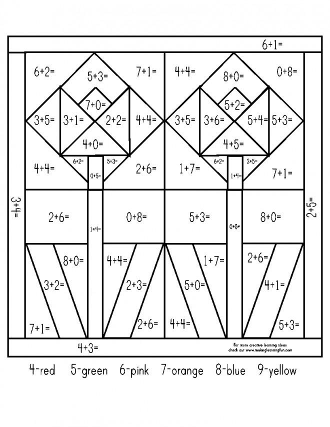 Coloriage et dessins gratuits Addition Tulipe géométrique à imprimer