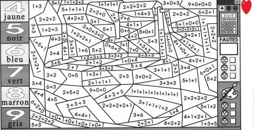 Coloriage et dessins gratuits Equation Mathématique d'Addition à imprimer