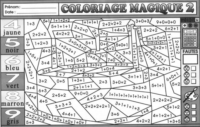 Coloriage et dessins gratuits Magique Addition ce1 à imprimer