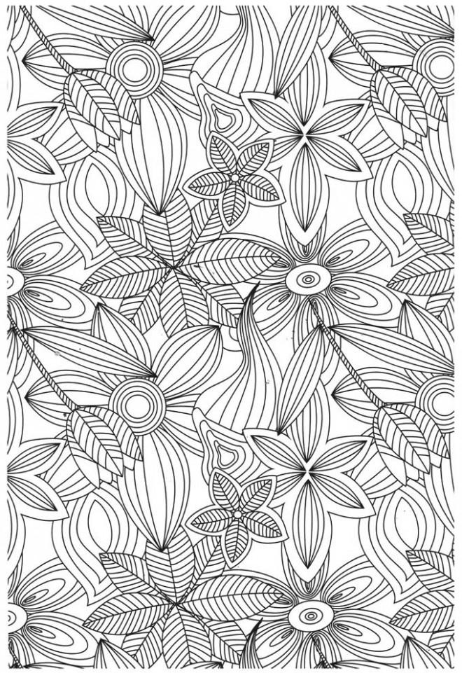 Coloriage et dessins gratuits Adulte Jardin Fleurs à imprimer