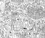 Coloriage et dessins gratuit Adulte 17 à imprimer