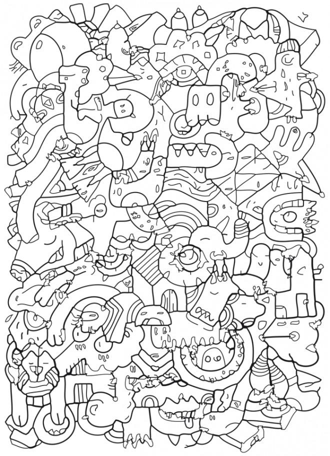 Coloriage et dessins gratuits Adulte Anti Stress maternelle à imprimer