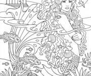 Coloriage et dessins gratuit Adulte Femme à imprimer