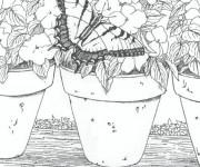 Coloriage et dessins gratuit Adulte Paysage à imprimer