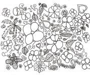 Coloriage et dessins gratuit Adulte Paysage Potager à imprimer