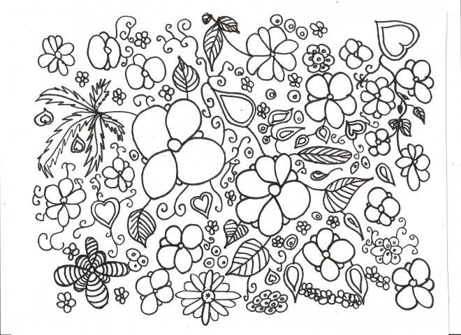 Coloriage adulte paysage potager dessin gratuit imprimer - Coloriage fleurs maternelle ...