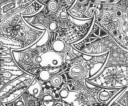 Coloriage et dessins gratuit Noel Adulte en noir à imprimer