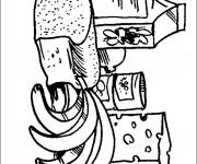 Coloriage et dessins gratuit Alimentation en ligne à imprimer