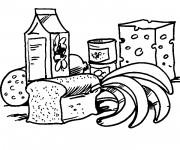 Coloriage et dessins gratuit Alimentation équilibrée à imprimer