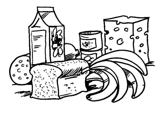 Coloriage et dessins gratuits Alimentation équilibrée à imprimer