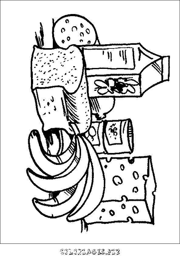 Coloriage et dessins gratuits Alimentation santé à imprimer