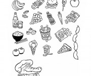Coloriage Aliments 2