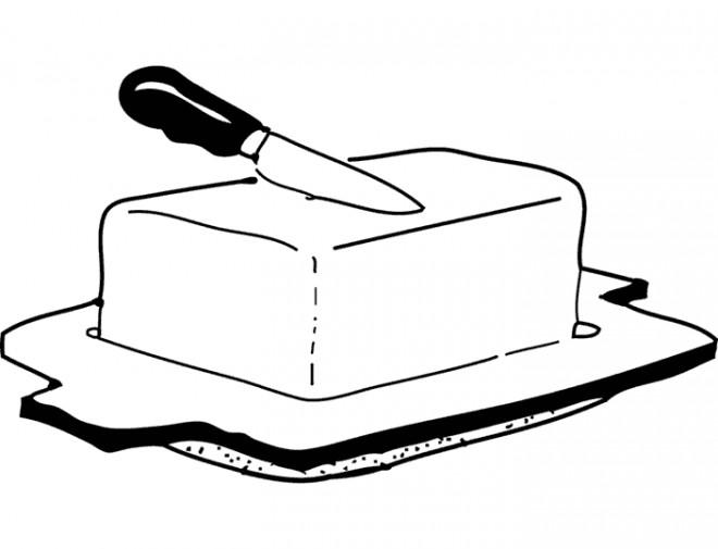Coloriage et dessins gratuits Aliments Beurre à imprimer