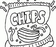 Coloriage Aliments Chips
