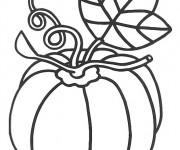 Coloriage Aliments Citrouille