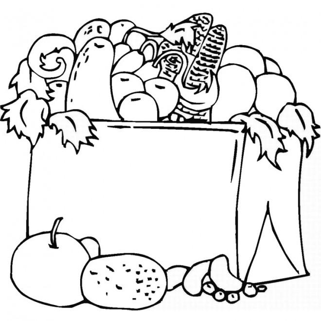Coloriage et dessins gratuits Aliments couleur à imprimer