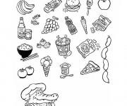 Coloriage et dessins gratuit Aliments et Régime à imprimer