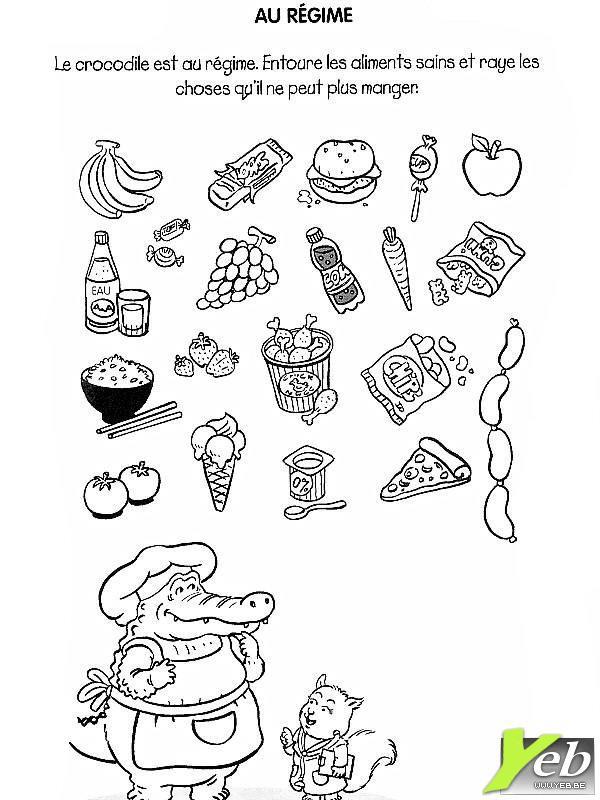 Coloriage et dessins gratuits Aliments et Régime à imprimer