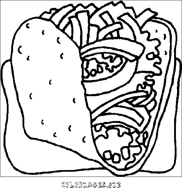 Coloriage et dessins gratuits Aliments Fast Food à imprimer