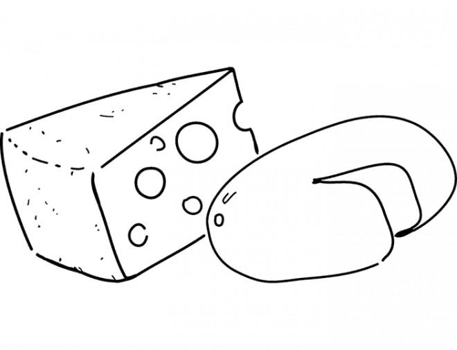 Coloriage et dessins gratuits Aliments Fromage à imprimer