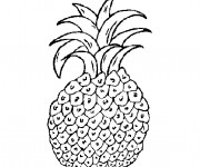 Coloriage Aliments Fruit Ananas