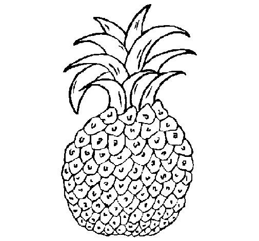 Coloriage et dessins gratuits Aliments Fruit Ananas à imprimer