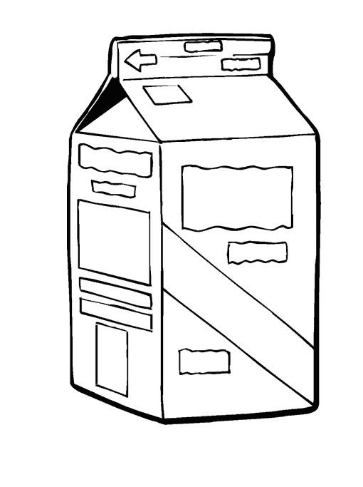 Coloriage et dessins gratuits Aliments Lait à imprimer