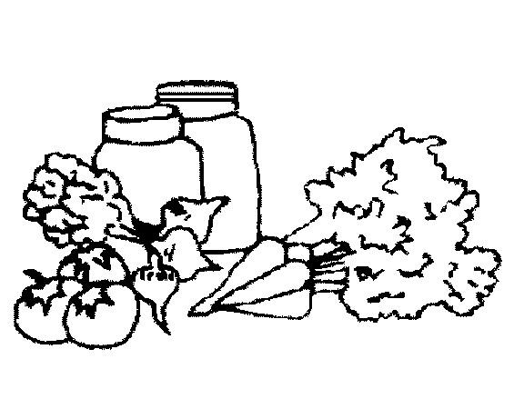 Coloriage et dessins gratuits Aliments Légumes riche en Vitamines à imprimer