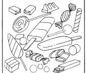 Coloriage et dessins gratuit Aliments Les Bonbons à imprimer