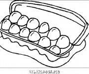 Coloriage et dessins gratuit Aliments Les Oeufs à imprimer