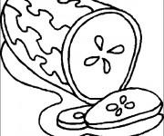 Coloriage Aliments Pastèque