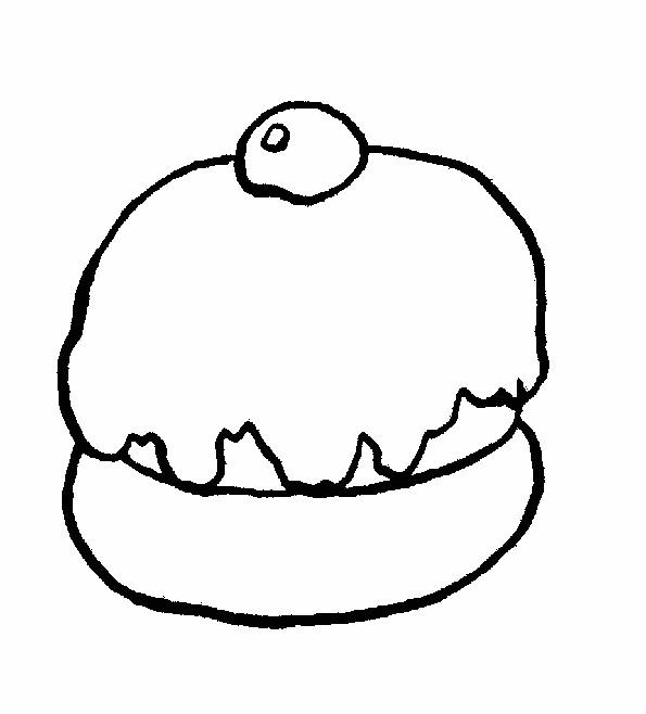 Coloriage et dessins gratuits Aliments Petit Gâteau à imprimer