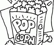 Coloriage Aliments Pop Corn