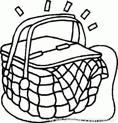 Coloriage et dessins gratuits Aliments pour le Pique-Nique à imprimer
