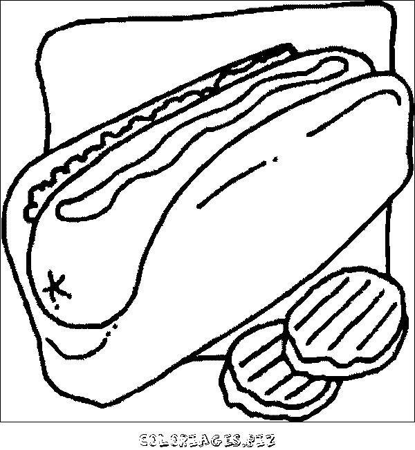 Coloriage et dessins gratuits Aliments Sandwich à imprimer