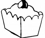 Coloriage et dessins gratuit Aliments Tarte à imprimer