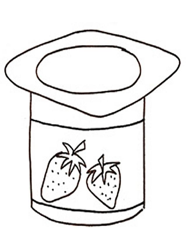 Coloriage et dessins gratuits Aliments Yaourt à imprimer