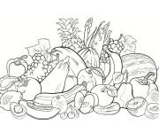 Coloriage Fruit et Légume